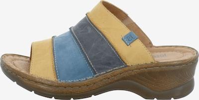 JOSEF SEIBEL Pantolette 'Catalonia 64' in rauchblau / taubenblau / gelb, Produktansicht