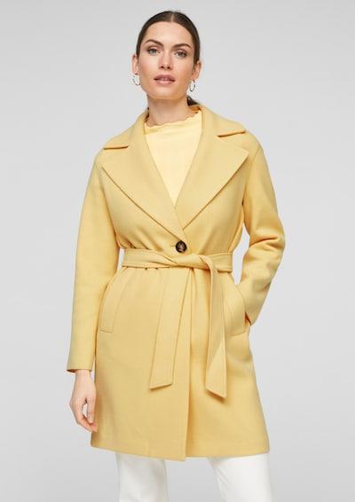 s.Oliver BLACK LABEL Manteau d'hiver en jaune clair, Vue avec modèle