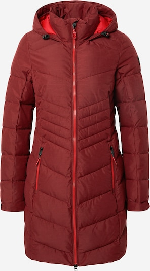 KILLTEC Pitkä takki ulkoiluun värissä viininpunainen, Tuotenäkymä