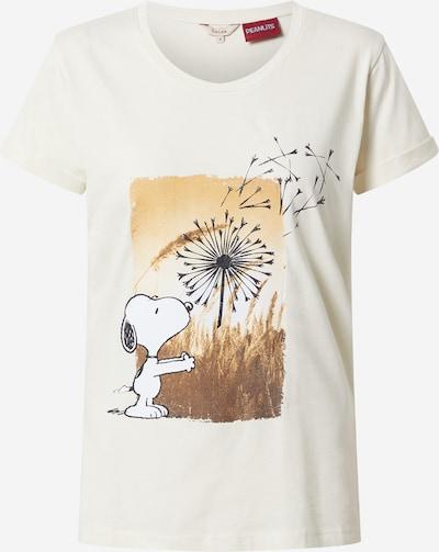 Salsa T-Shirt 'Snoppy' in beige / dunkelbeige / braun / anthrazit, Produktansicht