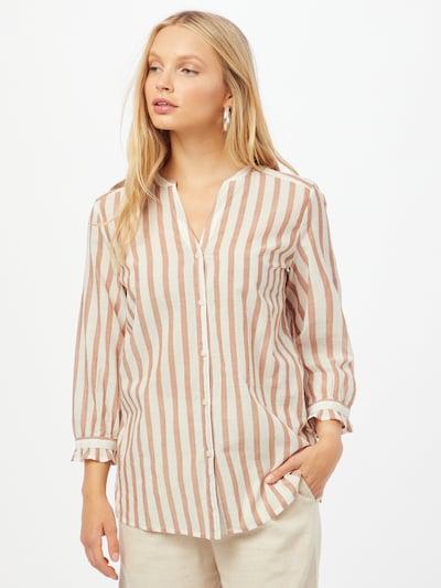 ESPRIT Блуза в карамел / бяло, Преглед на модела