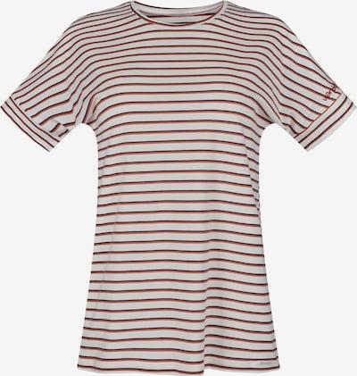 Skiny Тениска за спане 'Sundown Desert' в кремаво / нощно синьо / ръждиво червено, Преглед на продукта