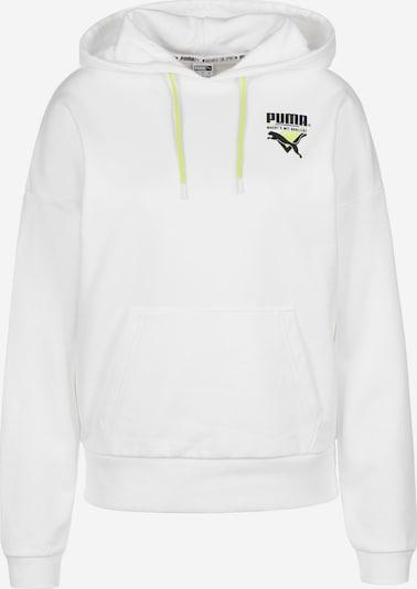 PUMA Sweatshirt 'TFS' in blau / neongelb / schwarz / weiß: Frontalansicht