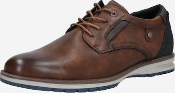 TOM TAILOR Δετό παπούτσι σε καφέ