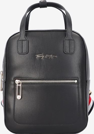 TOMMY HILFIGER Backpack in Dark blue / Fire red / Black / White, Item view