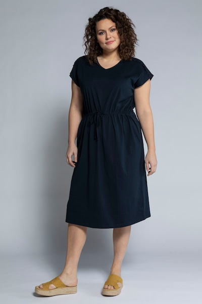 Ulla Popken Kleid in marine, Modelansicht
