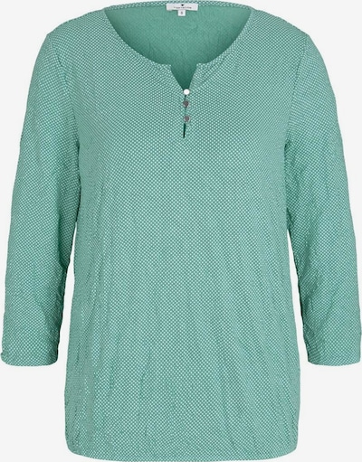 TOM TAILOR Shirt in jade / weiß, Produktansicht