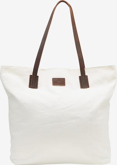 Plase de cumpărături DreiMaster Vintage pe maro închis / alb, Vizualizare produs