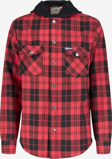 GOODYEAR Hemd 'Woodchopper' in rot / schwarz, Produktansicht