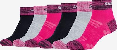 SKECHERS Socks in mottled grey / Pink / Black, Item view