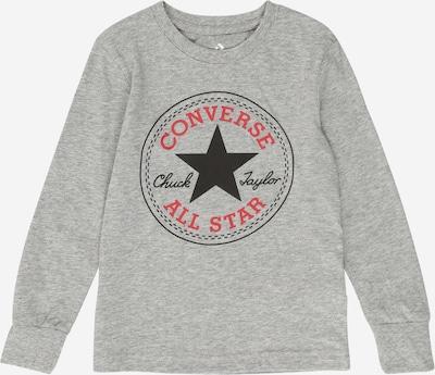 CONVERSE Shirt in grau / rot / schwarz, Produktansicht