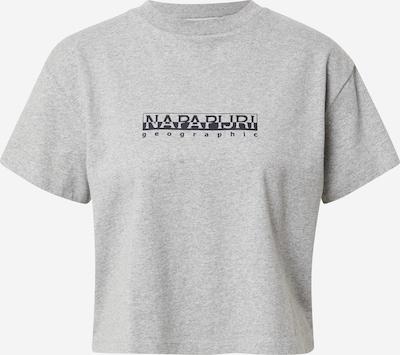 Tricou NAPAPIJRI pe gri amestecat / negru, Vizualizare produs