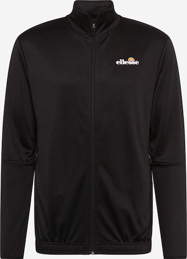 ELLESSE Sportsweatjacke 'Marzo' in schwarz / weiß, Produktansicht