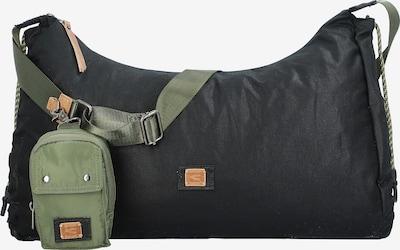 CAMEL ACTIVE Umhängetasche 'Laona' in hellbraun / oliv / schwarz, Produktansicht