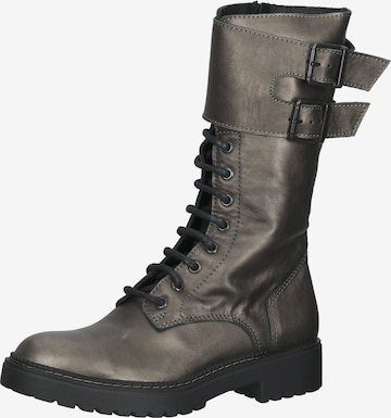 LAZAMANI Lace-Up Boots in Bronze