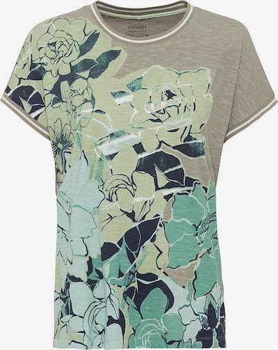 Olsen T-Shirt in grau / grün / schwarz, Produktansicht