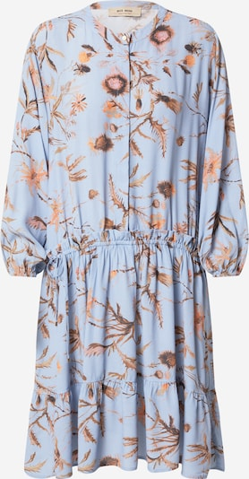 MOS MOSH Shirt dress 'Theresa Thistle' in Light blue / Brown / Light brown: Frontal view