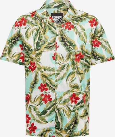 Superdry Overhemd 'HAWAIIAN' in de kleur Groen / Rood / Wit, Productweergave
