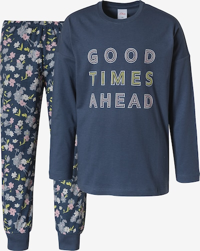 s.Oliver Nachtkledij in de kleur Nachtblauw / Rosa / Wit, Productweergave