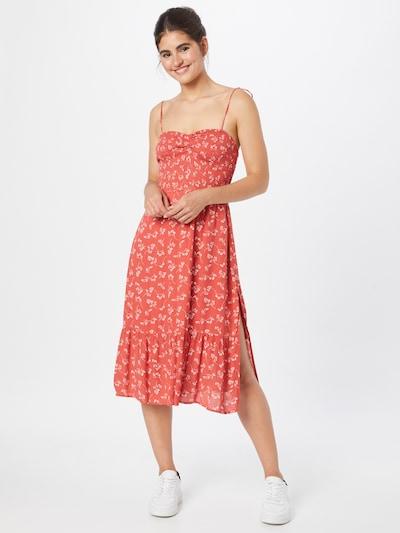 Abercrombie & Fitch Kleid in melone / weiß, Modelansicht