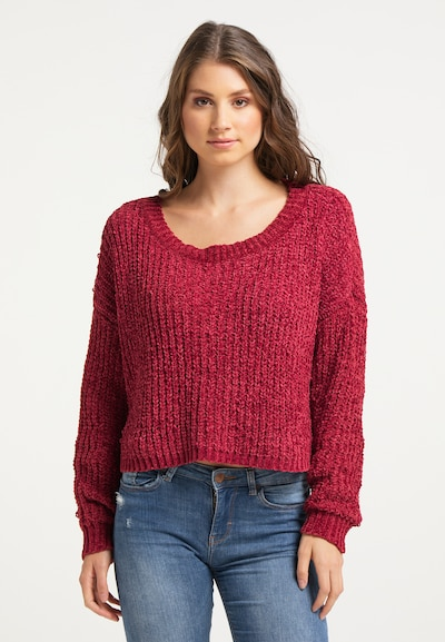 IZIA Pullover in beere, Modelansicht
