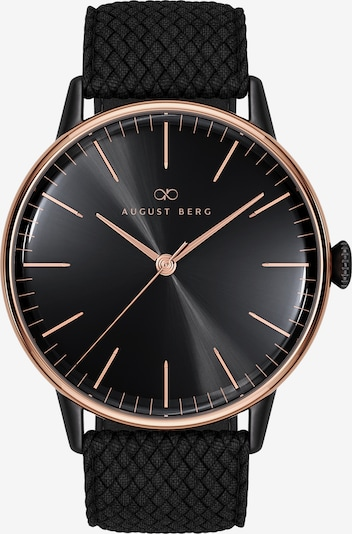 August Berg Uhr Serenity Noir Black With Top Ring Perlon 40mm in schwarz, Produktansicht