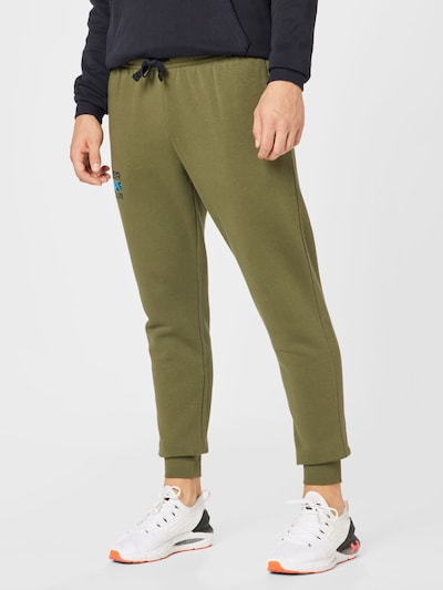 Pantaloni sport UNDER ARMOUR pe bleumarin / kaki, Vizualizare model