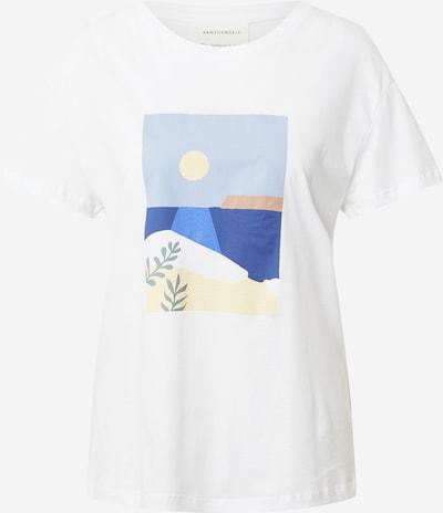 ARMEDANGELS T-Shirt 'NELAA CALM SEA' in blau / hellblau / gelb / weiß, Produktansicht