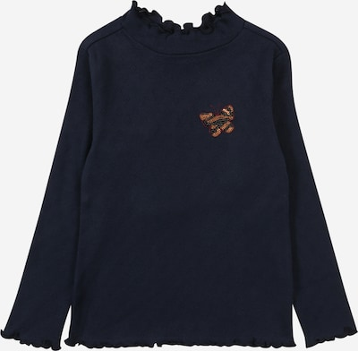 s.Oliver Shirt in navy / gold / rotviolett, Produktansicht