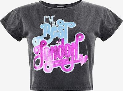 trueprodigy T-Shirt 'London Love' in hellblau / neonpink / schwarz, Produktansicht