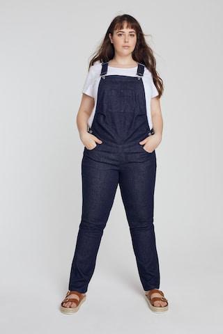 Ulla Popken Tuinbroek jeans '794987' in Blauw