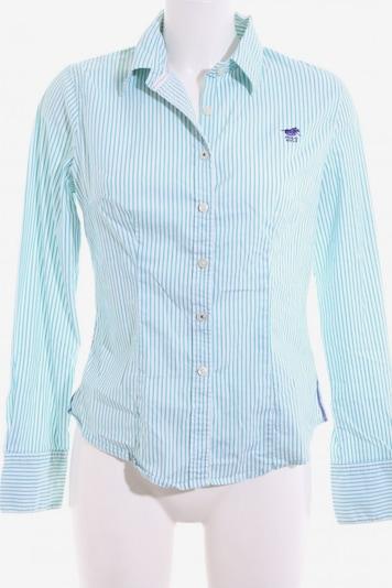 POLO SYLT Langarmhemd in M in türkis / weiß, Produktansicht
