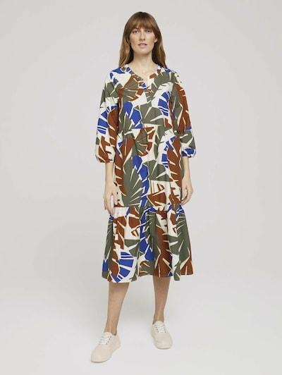 TOM TAILOR Robe-chemise en mélange de couleurs: Vue de face