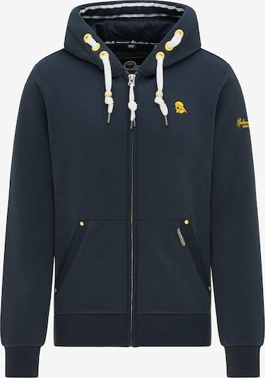 Schmuddelwedda Sweatshirt in dunkelblau / gelb / weiß, Produktansicht