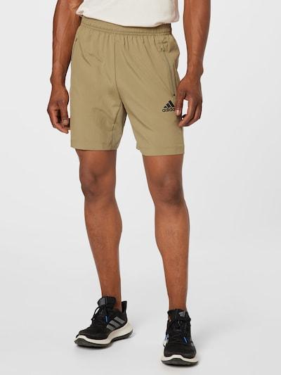 ADIDAS PERFORMANCE Športové nohavice - olivová / čierna, Model/-ka