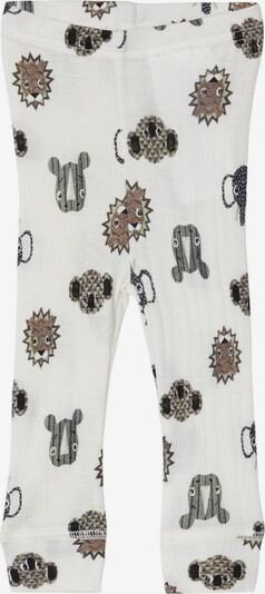 NAME IT Leggings in braun / grau / weiß, Produktansicht
