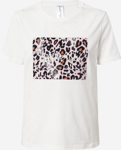 KENDALL + KYLIE Тениска в тъмнооранжево / розово / черно / мръсно бяло, Преглед на продукта
