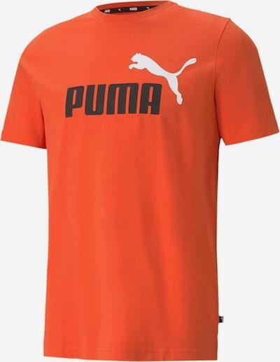 PUMA T-Shirt in dunkelorange / schwarz / weiß, Produktansicht