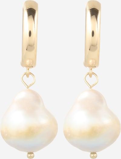 We Are Flowergirls Náušnice 'Arielle' - zlatá / perlově bílá, Produkt