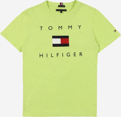 TOMMY HILFIGER Majica   limona / rdeča / črna / bela barva: Frontalni pogled