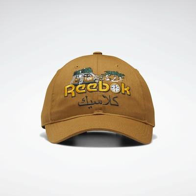 Reebok Classic Sportpet 'Road Trip' in de kleur Sand / Goudgeel / Groen / Zwart, Productweergave