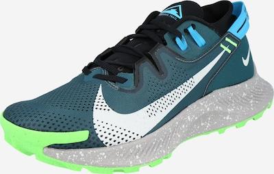 NIKE Zapatillas de running en gris claro / petróleo / verde neón, Vista del producto