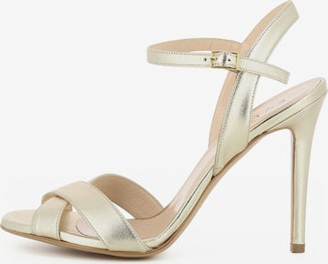 Sandales à lanières EVITA en or