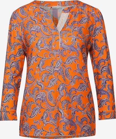 STREET ONE Tričko - fialkově modrá / pastelová fialová / tmavě oranžová / bílá, Produkt