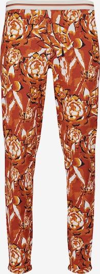 Pantaloncini da pigiama Skiny di colore giallo / rosso arancione / nero / bianco, Visualizzazione prodotti
