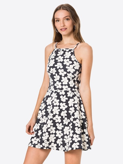 ONLY Kleid 'LOUI' in taubenblau / weiß, Modelansicht