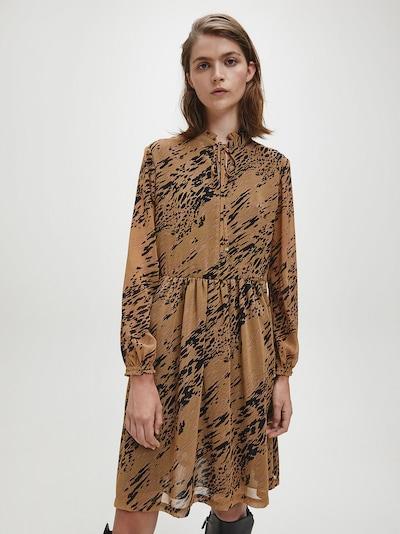 Calvin Klein Kleid in braun / schwarz, Modelansicht