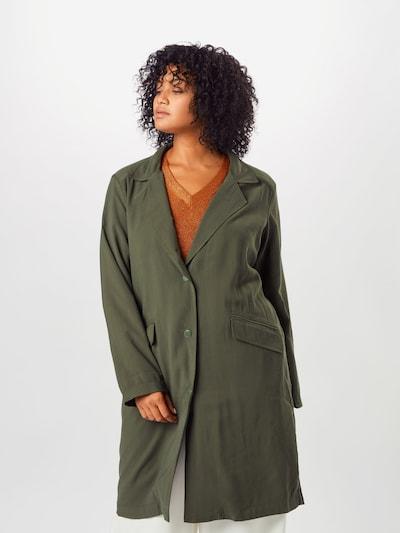 ONLY Carmakoma Mantel in dunkelgrün, Modelansicht
