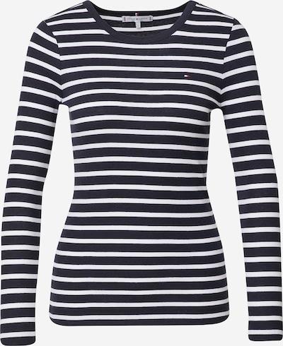 TOMMY HILFIGER Μπλουζάκι σε σκούρο μπλε / λευκό, Άποψη προϊόντος