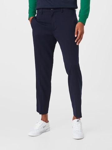 Pantalon à plis UNITED COLORS OF BENETTON en bleu
